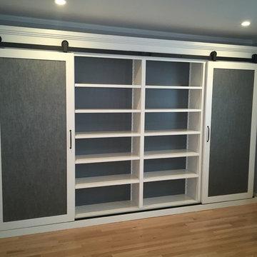 Storage Cabinet with Sliding Barn Doors