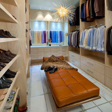 Contemporary Closet by Mary Anne Smiley Interiors
