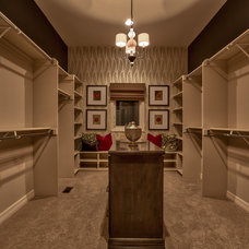 Transitional Closet by Falcone Homes