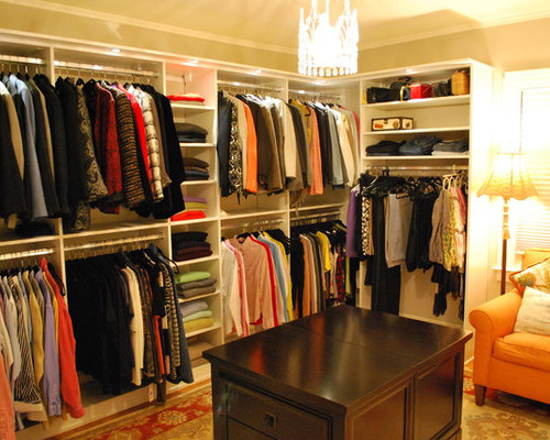 Stunning Women S Walk In Closet With Lighting