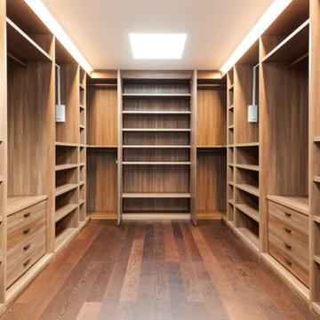 Stunning Wood Wardrobe Room - Raw Wood