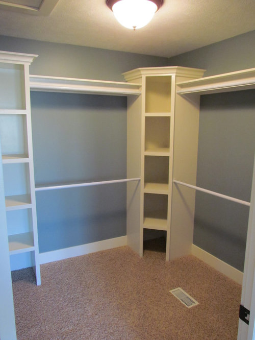closet corner shelf houzz. Black Bedroom Furniture Sets. Home Design Ideas