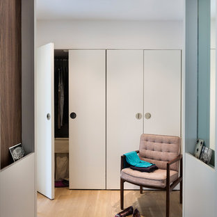 This is an example of a midcentury storage and wardrobe in Austin.