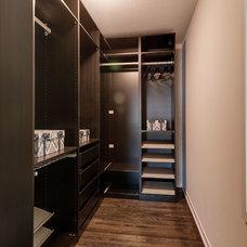 Contemporary Closet by Rosenow   Peterson Design