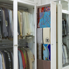 Contemporary Closet by Lisa Adams, LA Closet Design