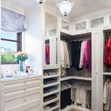 Traditional Closet by Lisa Adams, LA Closet Design