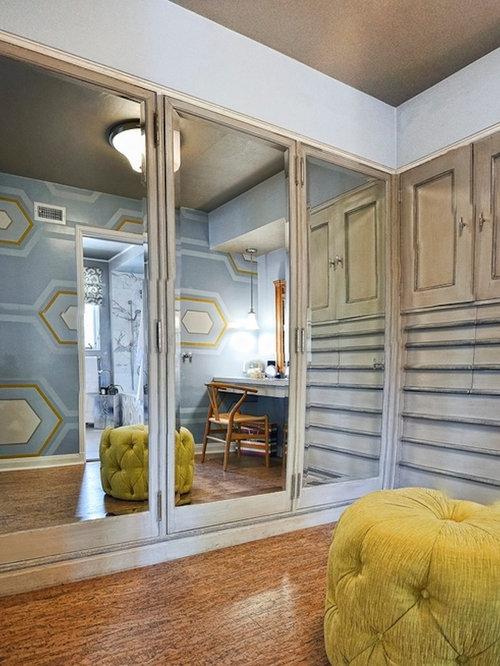 Kleines Ankleidezimmer mit Schränken im Used-Look - Ideen für den ...