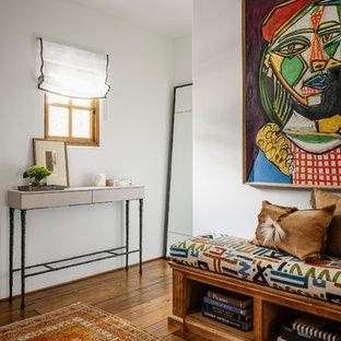 Dressing room - mid-sized southwestern men's medium tone wood floor and white floor dressing room idea in San Diego