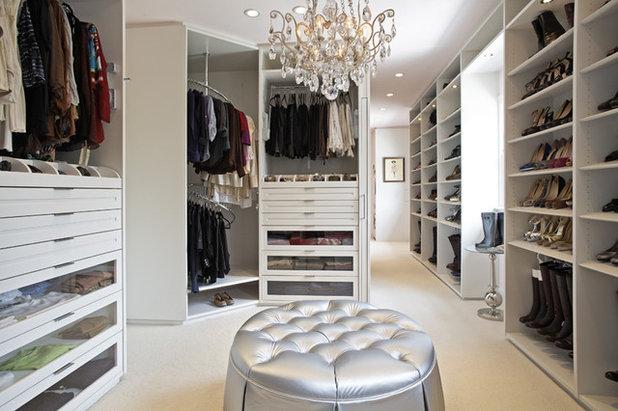 Contemporary Wardrobe by Lisa Adams, LA Closet Design