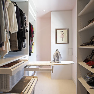 Walk-in closet - contemporary walk-in closet idea in Los Angeles