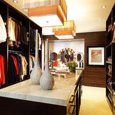 Contemporary Closet by Lisa Adams, LA Closet Design