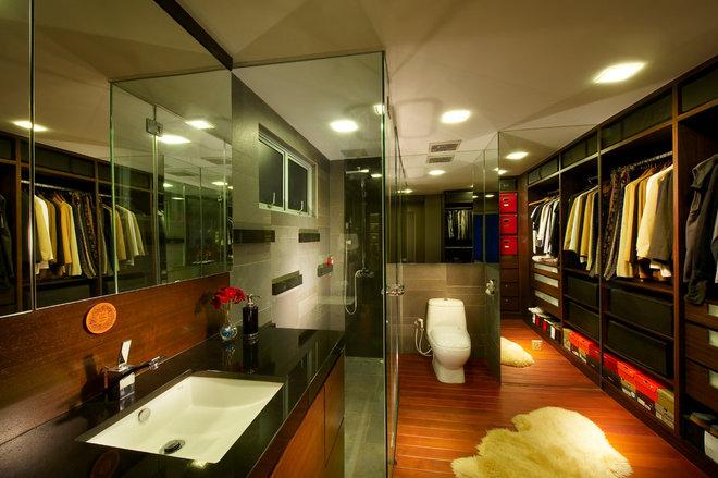 Contemporary Closet by LS2 Design & Construction