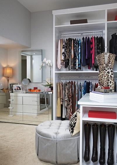 Transitional Closet by Lisa Adams, LA Closet Design