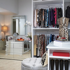 Transitional Closet by Lisa Adams, LA Closet Design