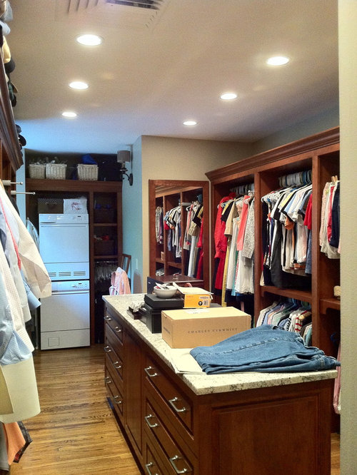 Washer Dryer In Master Closet Houzz