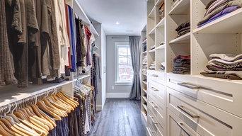 Toronto custom master bedroom walk-in closet