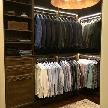 Traditional & Luxurious Men's Master Bedroom Walk-In Closet