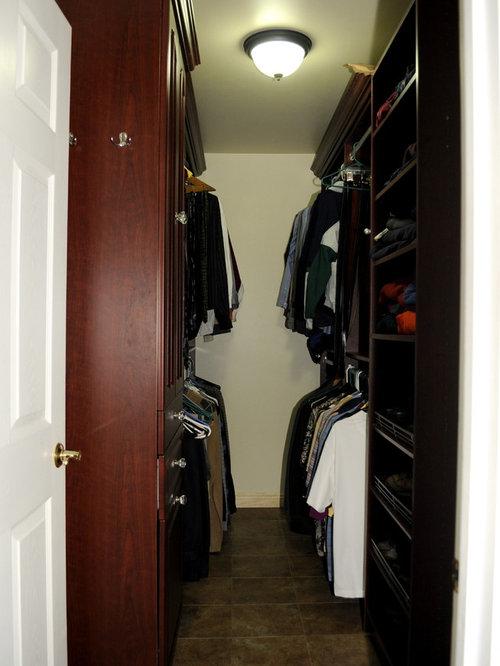 Narrow Walk In Closet Houzz