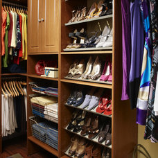 traditional clothes and shoes organizers by ClosetMaid