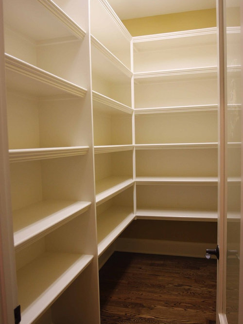 Pantry shelving houzz for Best pantry shelving system