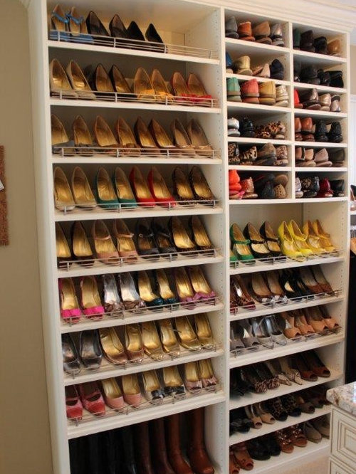 Angled Shoe Shelves | Houzz