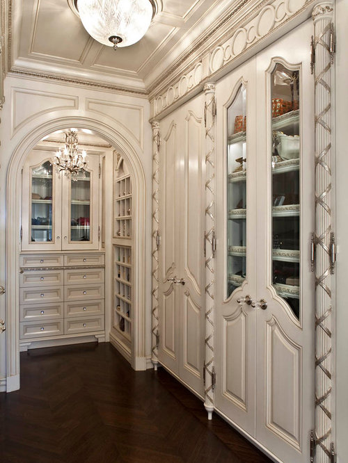 Traditional Closet Idea In Orange County With Beige Cabinets