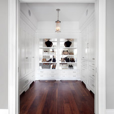 Transitional Closet by Lisa Petrole Photography