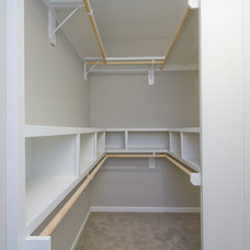 Transitional Closet by Suma Design and Construction