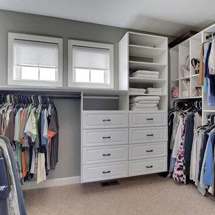 Imagen de armario vestidor unisex, de estilo americano, de tamaño medio, con moqueta
