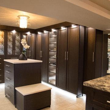 Upscale master bathroom suite