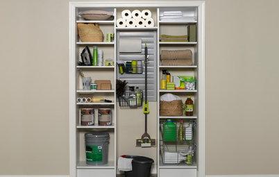 Хороший вопрос: Куда прятать швабру, пылесос и средства для уборки?