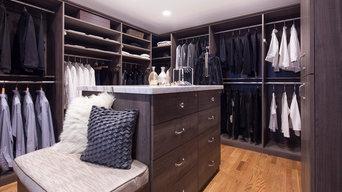 Valet Custom Cabinets & Closets- Walk-in Closet Master-Hudson