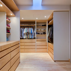 Contemporary Closet by DeMicoli & Associates