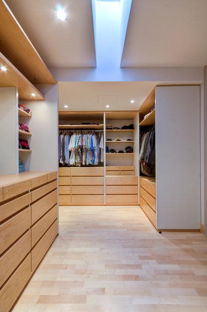 Contemporary Closet by DeMicoli & Associates