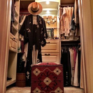 Vintage small walk-in closet
