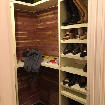 Vintage small walk-in closet