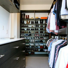 Modern Closet by California Closets of the Texas Hill Country