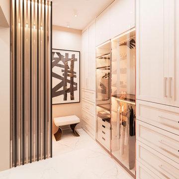 Walk in closet. Emirates hills