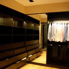 Modern Closet Walk-in Closet
