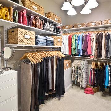 Walk in Closet Organization | Organized Living freedomRail