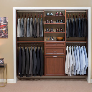 Example of a classic closet design in Orange County