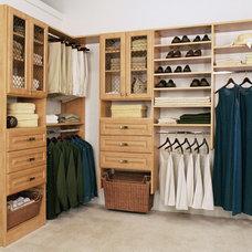 Contemporary Closet by Evolution Closets