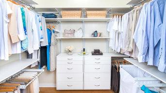 Walk-In Custom Closet in White