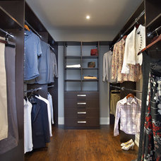 Contemporary Closet by Space Solutions.ca