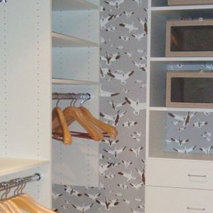 Inspiration for an eclectic closet remodel in Other