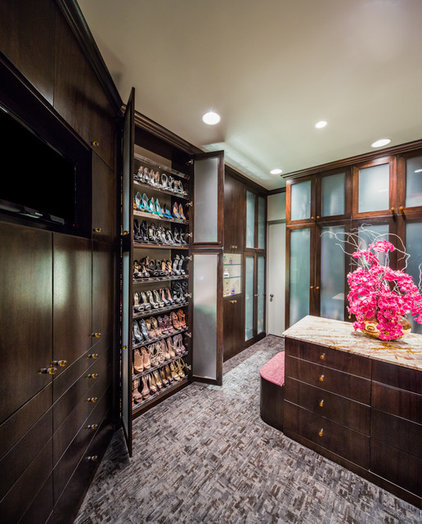 contemporary closet by By Design Interiors