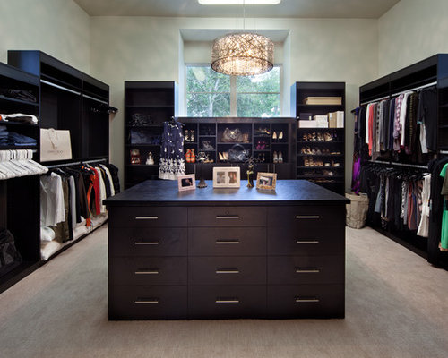 Example Of A Trendy Walk In Closet Design In Orlando