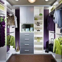 White And Silver Walk In Closet