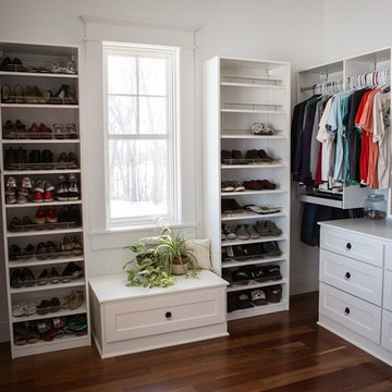 White Closet with Built-Ins