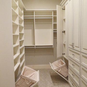 White Master Closet with Van Dyke Glaze in Destin, Florida